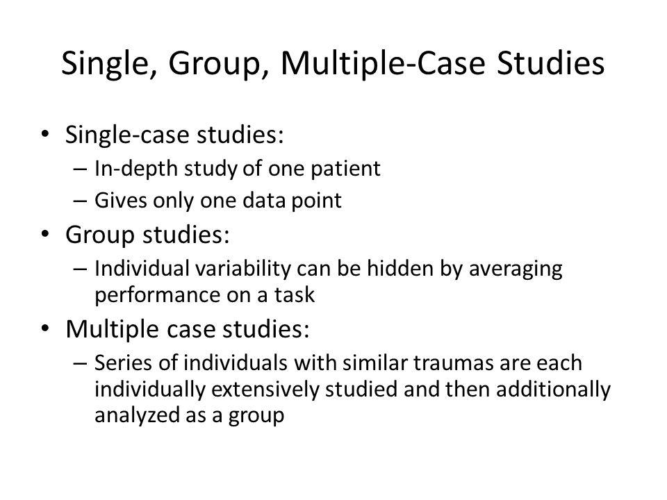 Single, Group, Multiple-Case Studies