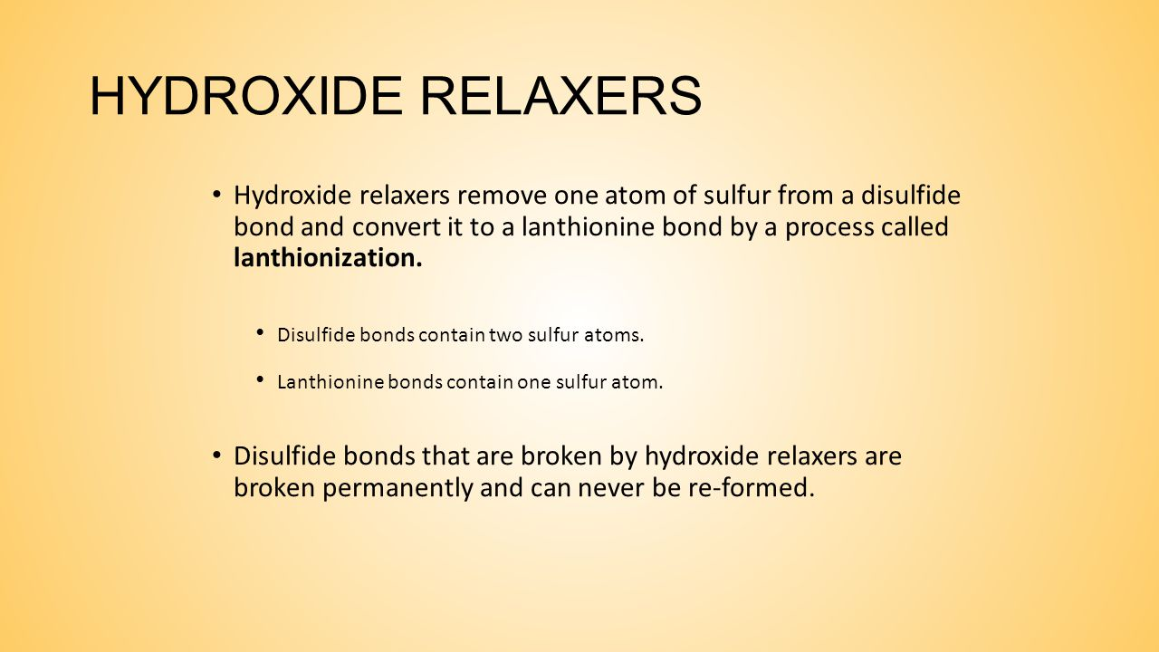 HYDROXIDE RELAXERS