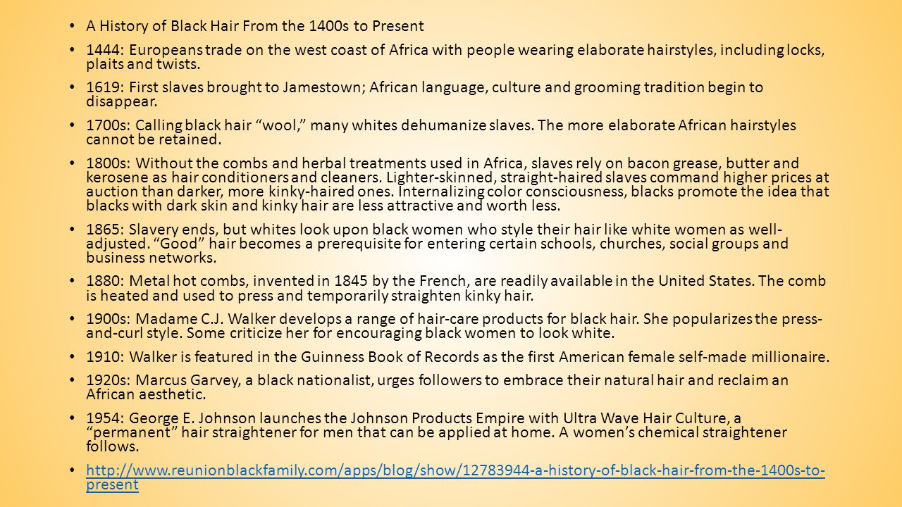 A History of Black Hair From the 1400s to Present