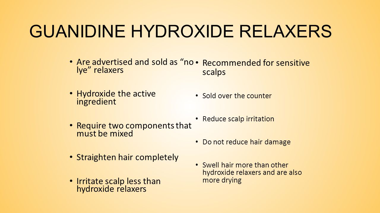 GUANIDINE HYDROXIDE RELAXERS