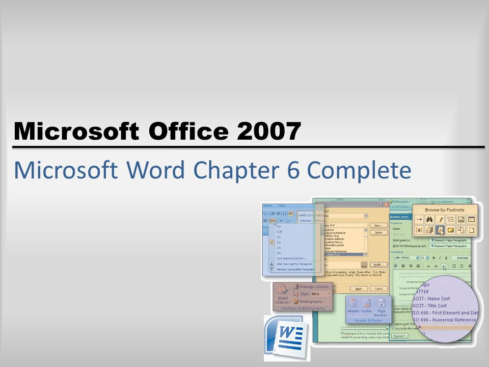 Microsoft Word Chapter 6 Complete