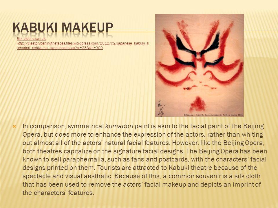 Kabuki makeup Silk cloth example.