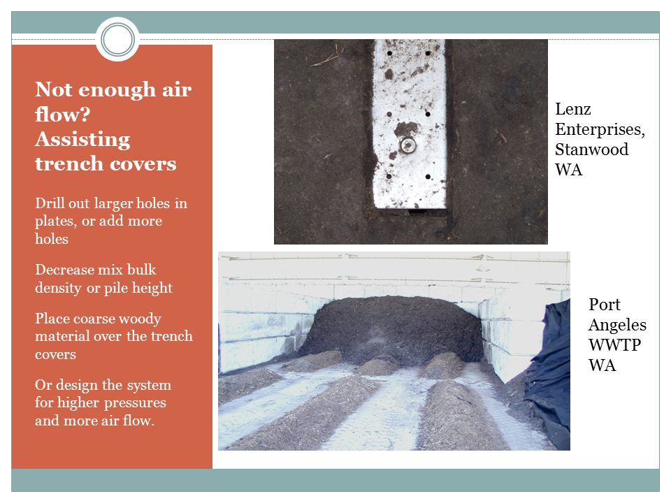 Not enough air flow Assisting trench covers