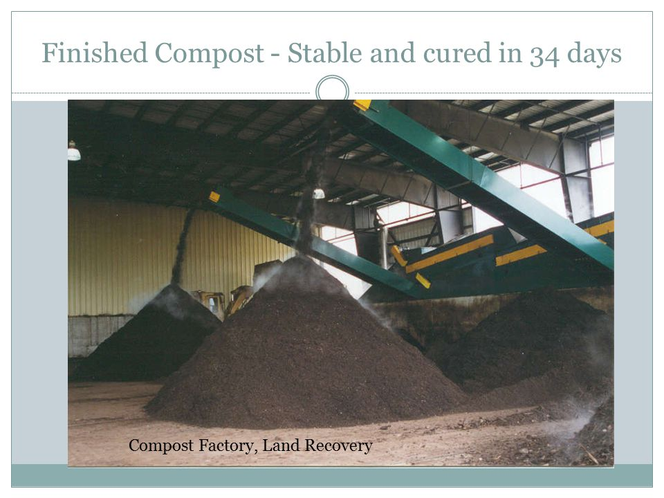 Finished Compost - Stable and cured in 34 days