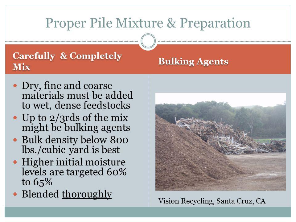 Proper Pile Mixture & Preparation