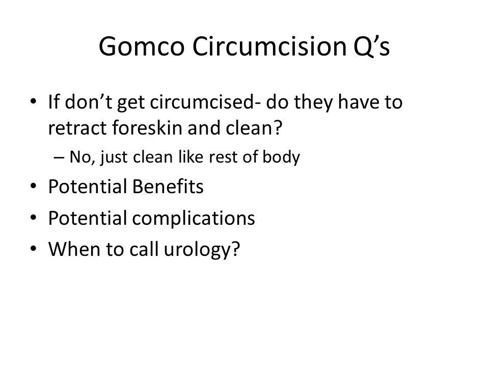 Gomco Circumcision Q's
