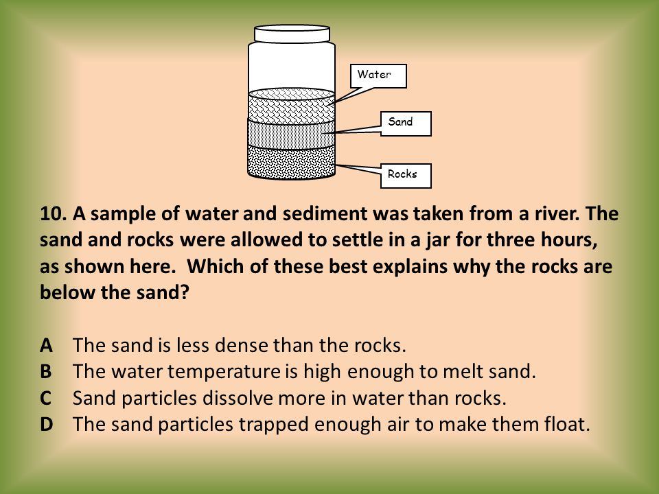 Water Sand.