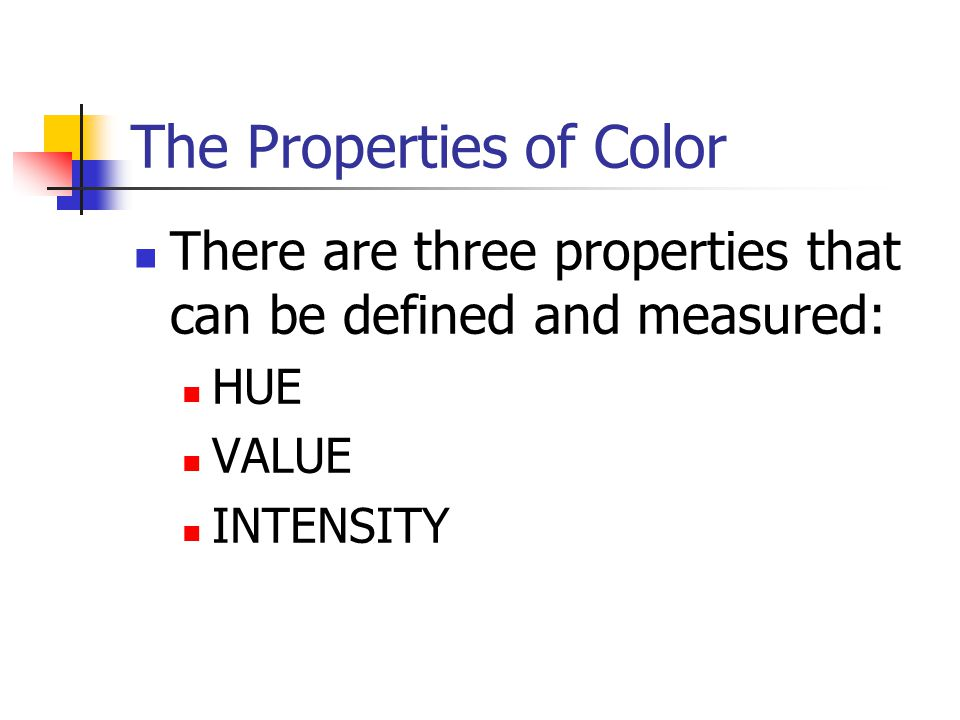 The Properties of Color