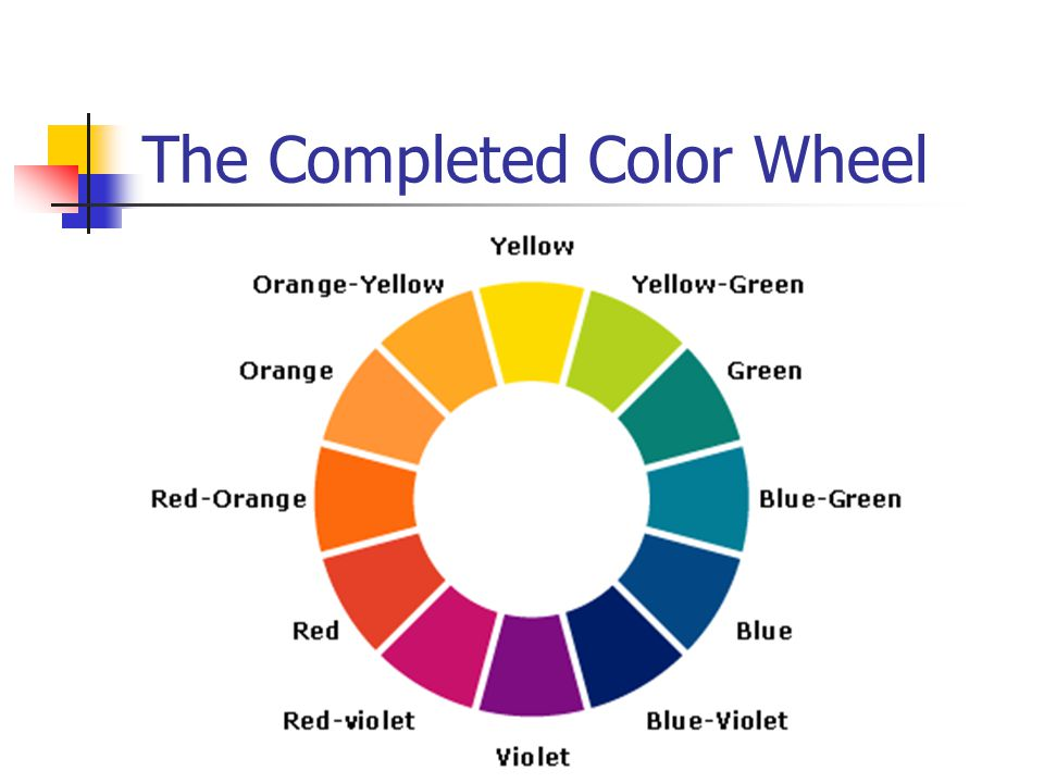 The Completed Color Wheel