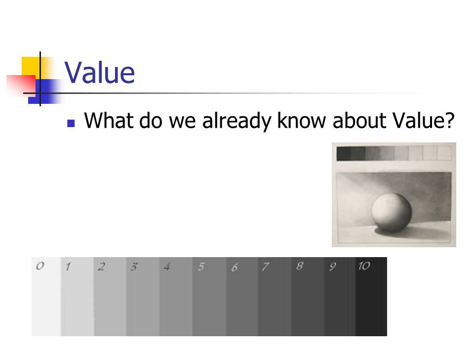 Value What do we already know about Value
