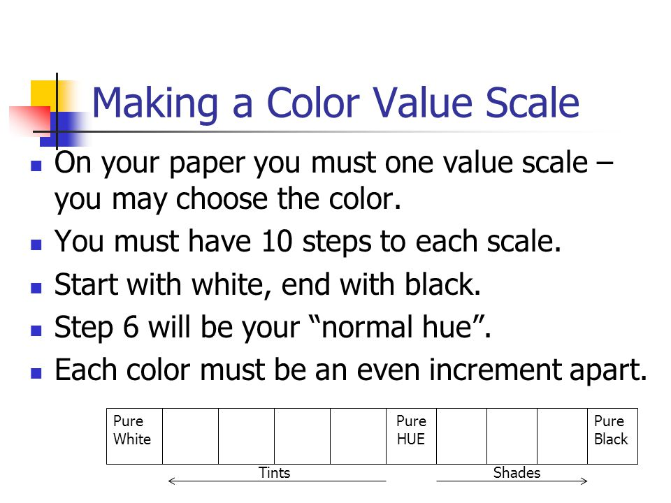 Making a Color Value Scale