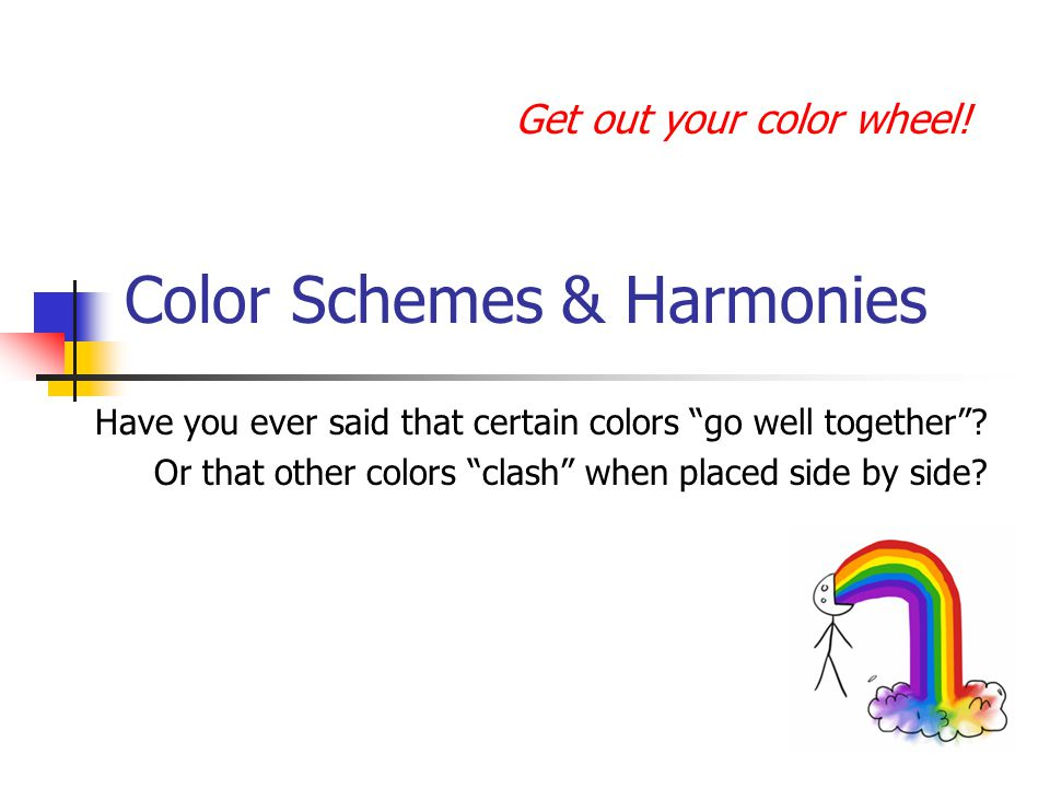 Color Schemes & Harmonies