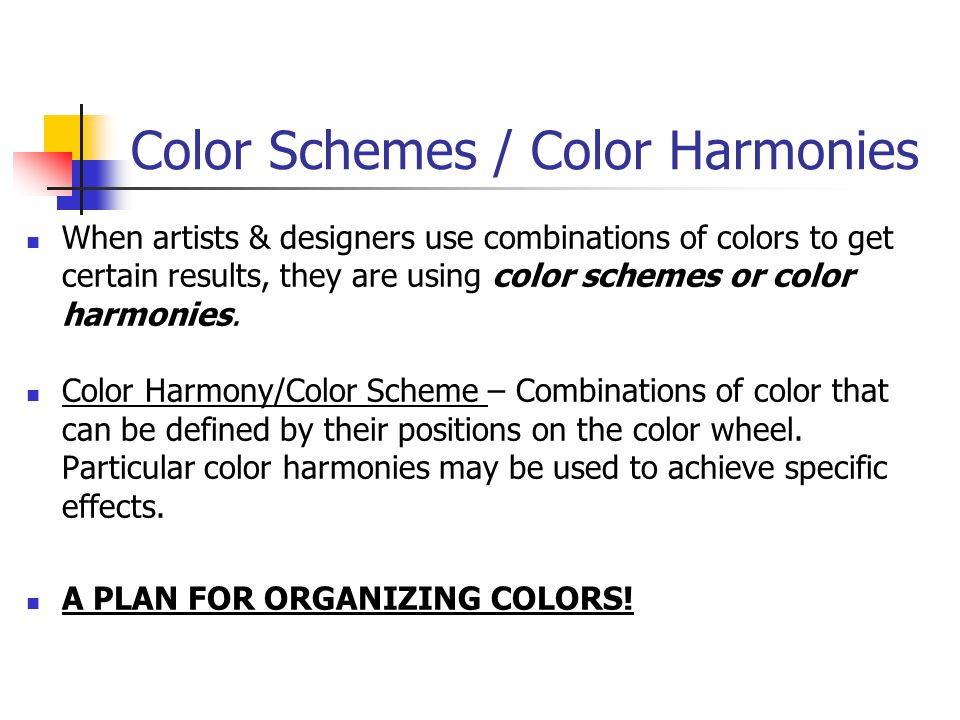Color Schemes / Color Harmonies