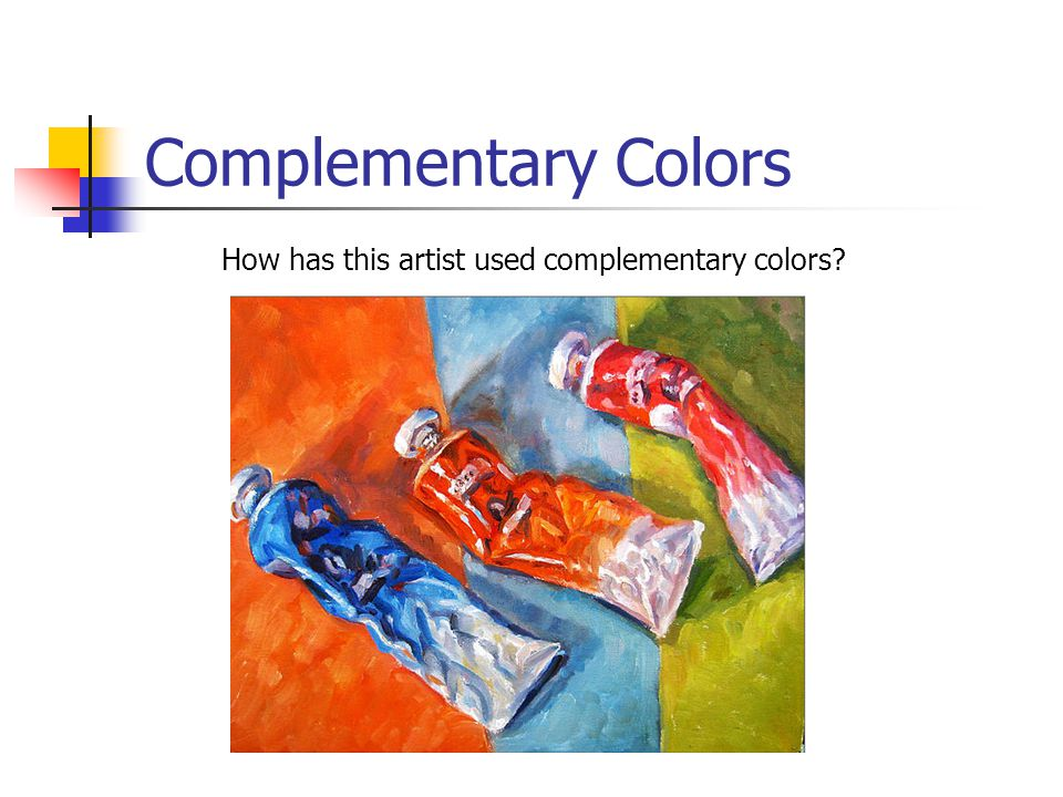 How has this artist used complementary colors