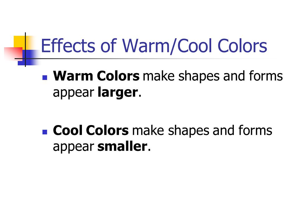 Effects of Warm/Cool Colors