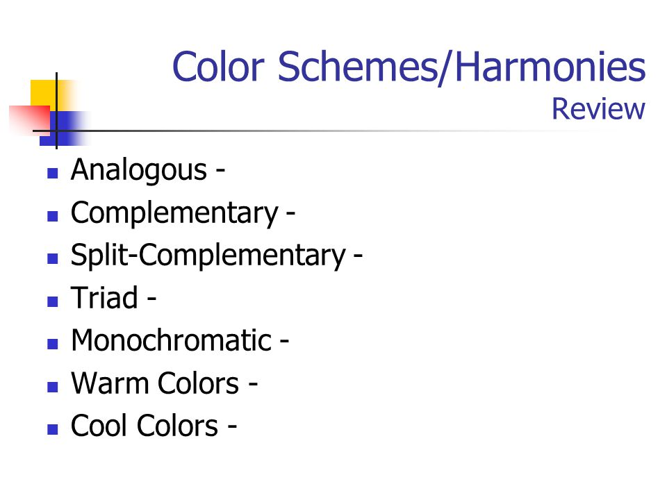 Color Schemes/Harmonies Review