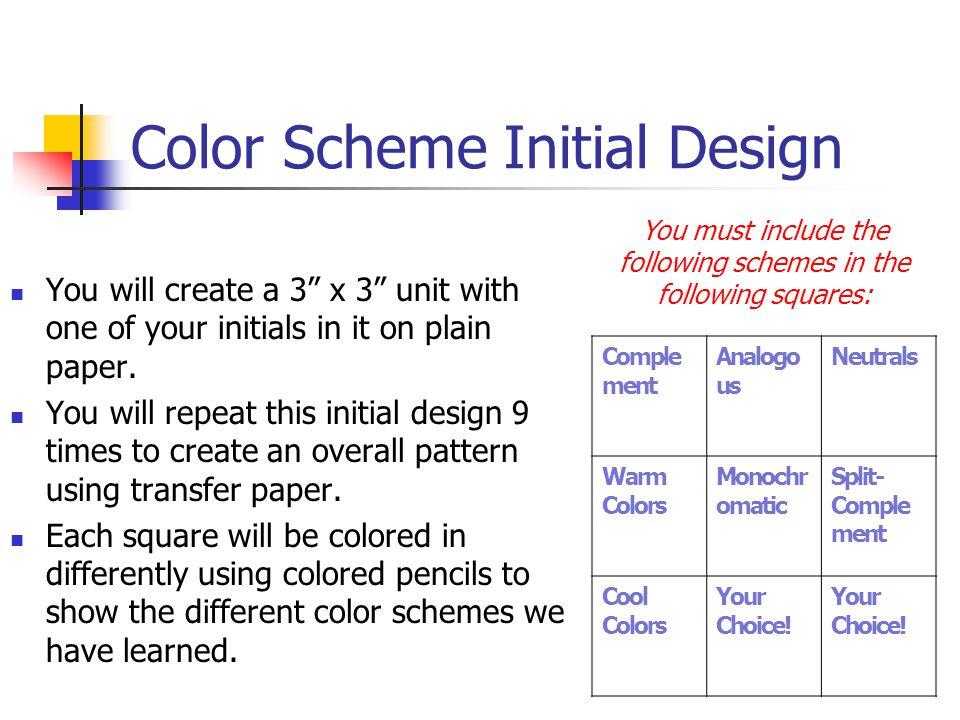 Color Scheme Initial Design