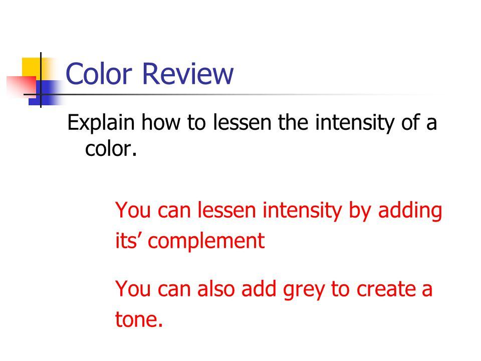 Color Review