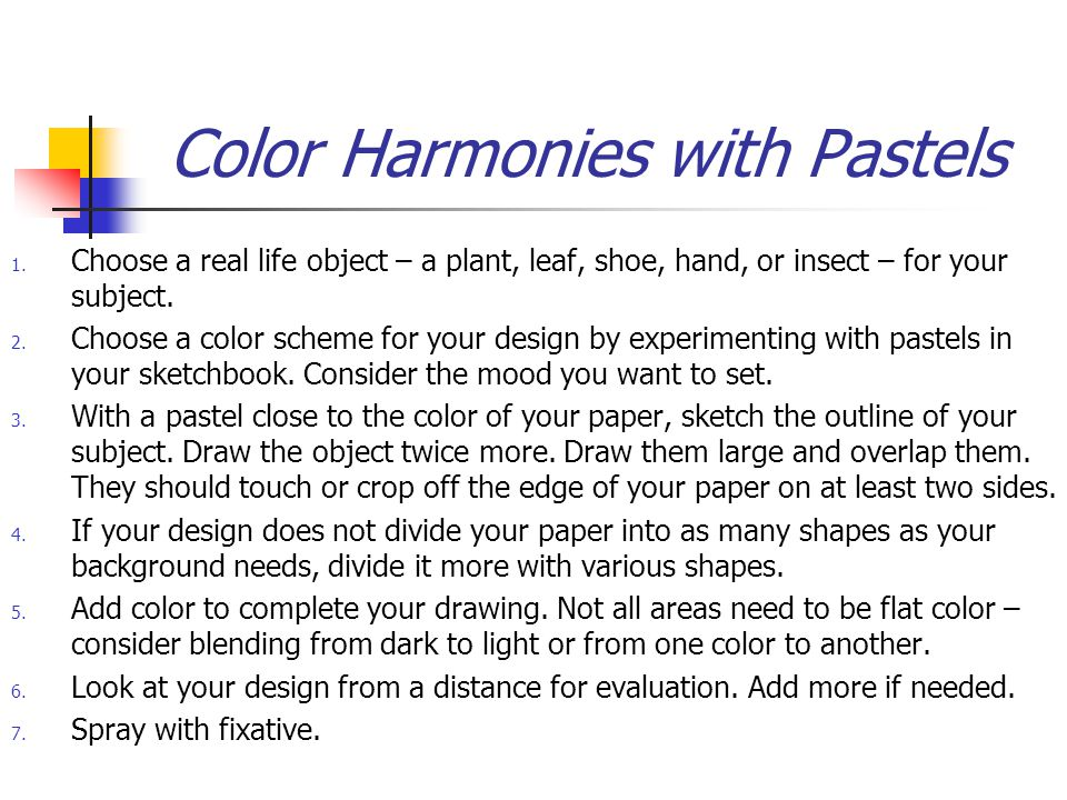 Color Harmonies with Pastels