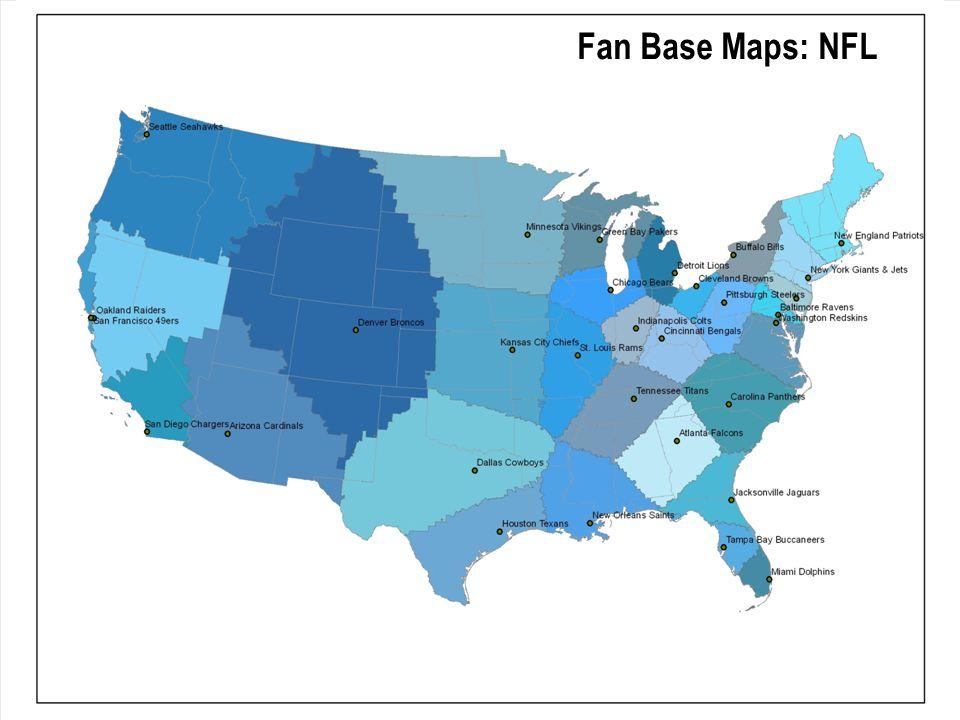 Fan Base Maps: NFL
