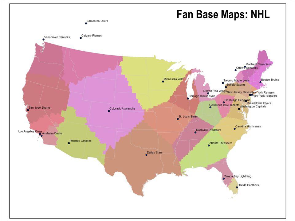 Fan Base Maps: NHL