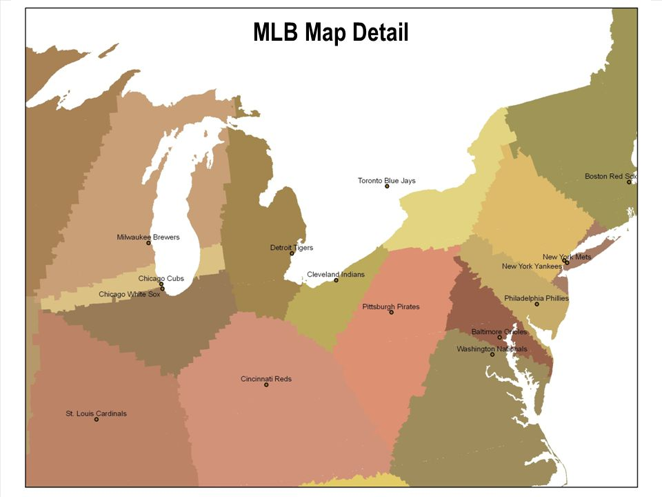 MLB Map Detail