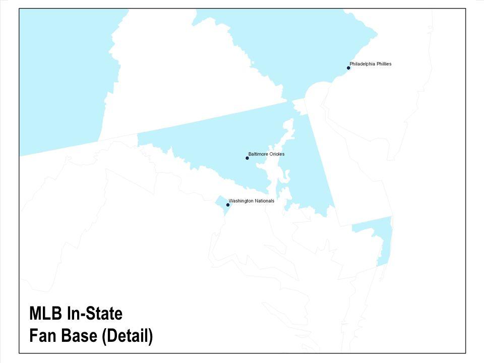 MLB In-State Fan Base (Detail)