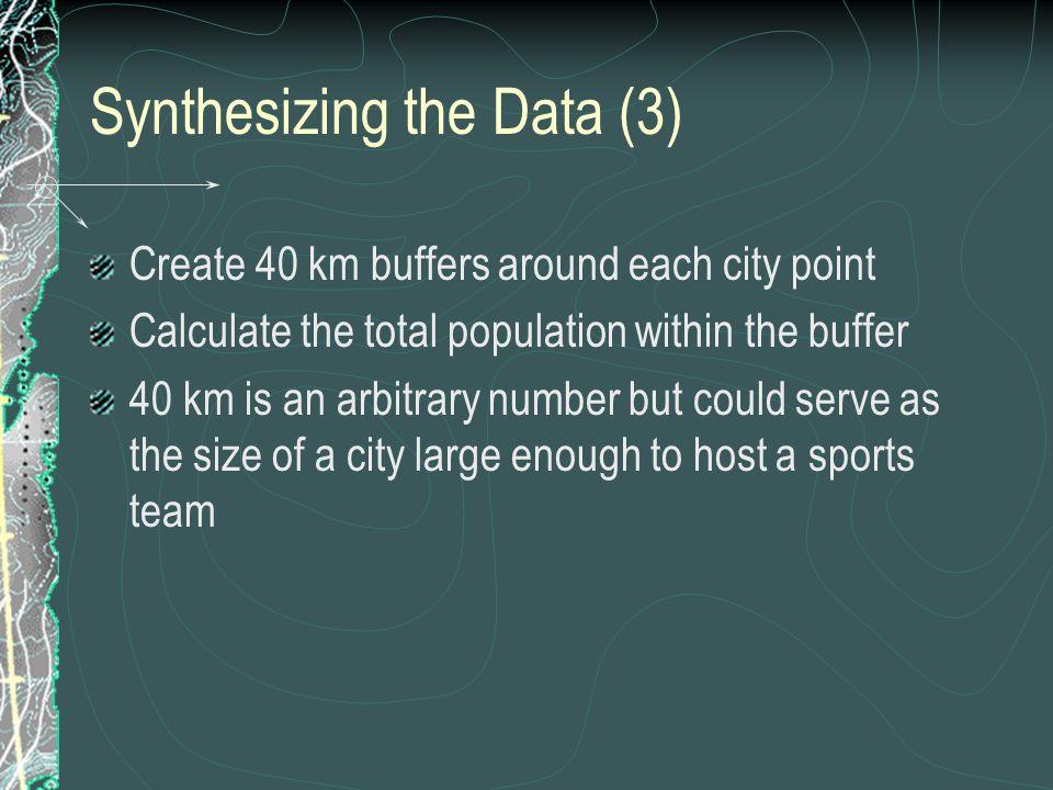Synthesizing the Data (3)