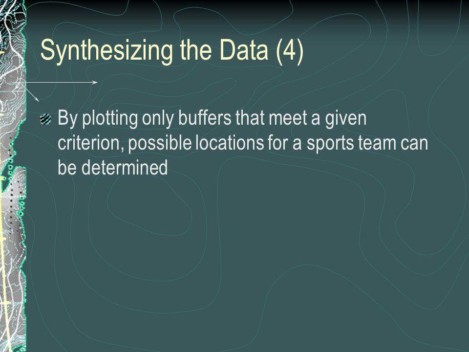 Synthesizing the Data (4)