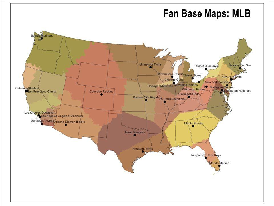 Fan Base Maps: MLB
