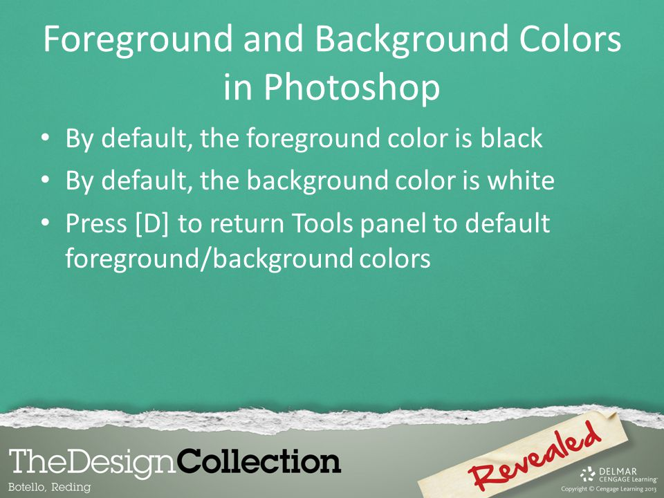 Foreground and Background Colors in Photoshop