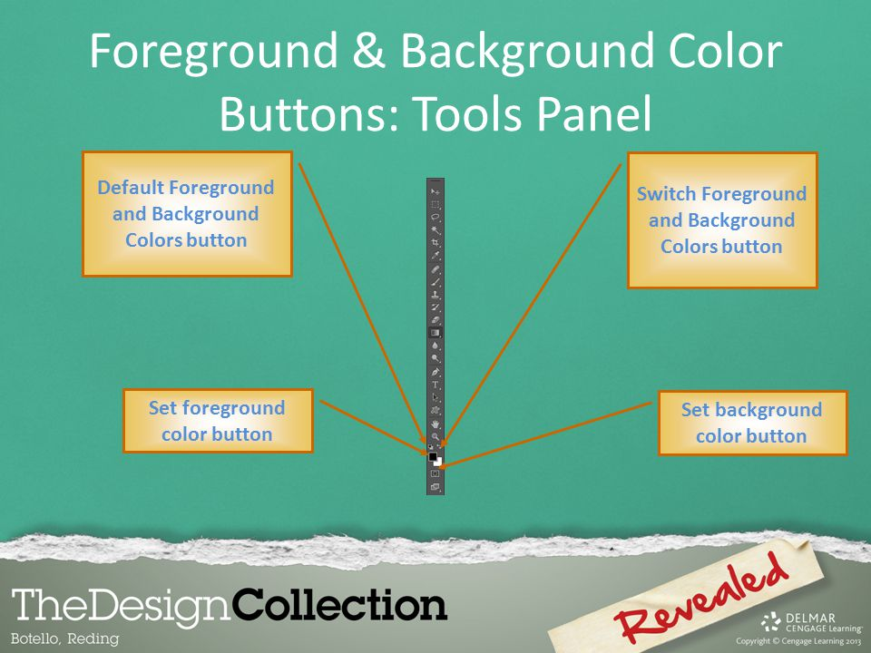 Foreground & Background Color Buttons: Tools Panel
