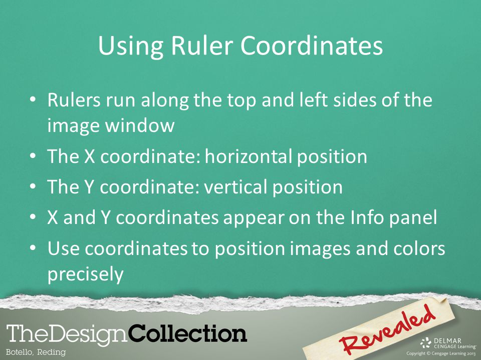 Using Ruler Coordinates
