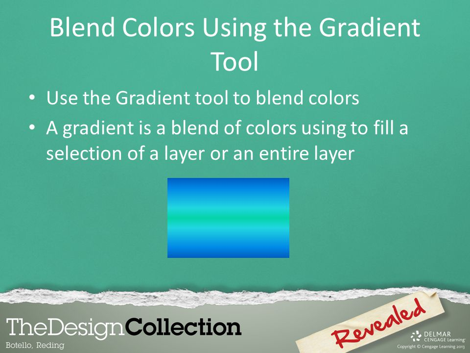 Blend Colors Using the Gradient Tool