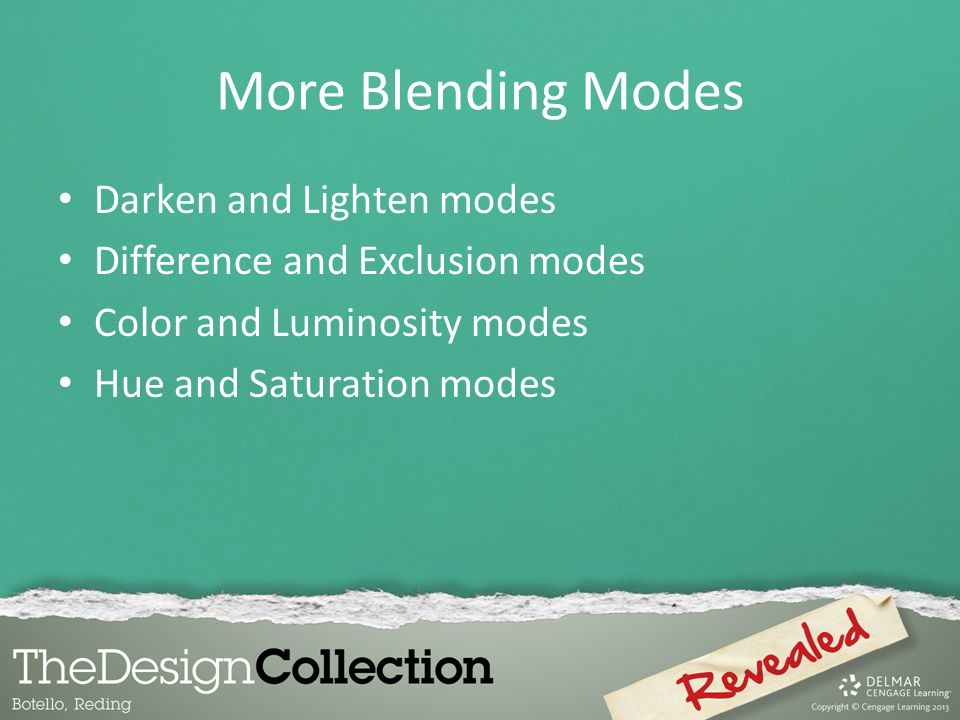 More Blending Modes Darken and Lighten modes