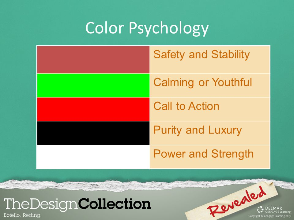 Color Psychology Safety and Stability Calming or Youthful