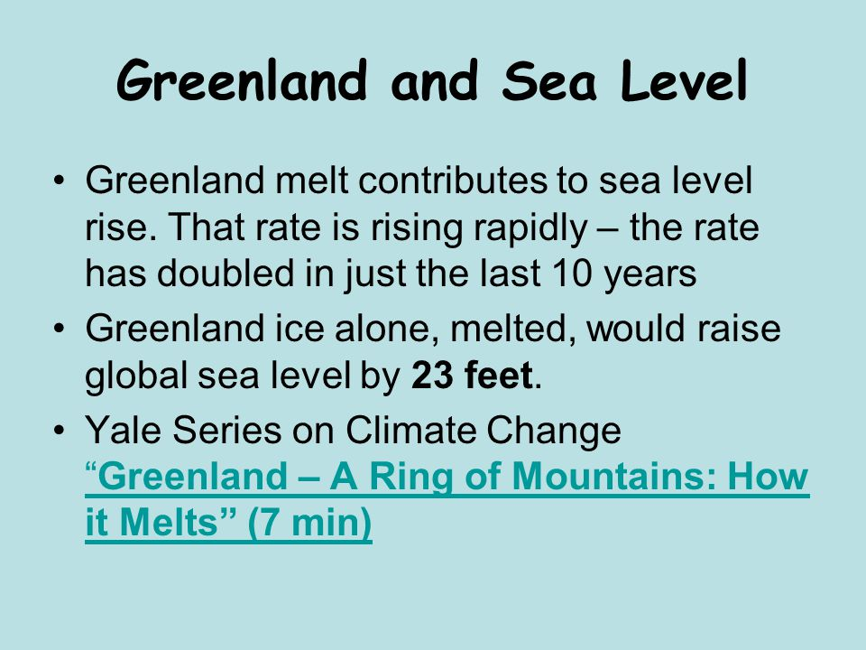 Greenland and Sea Level