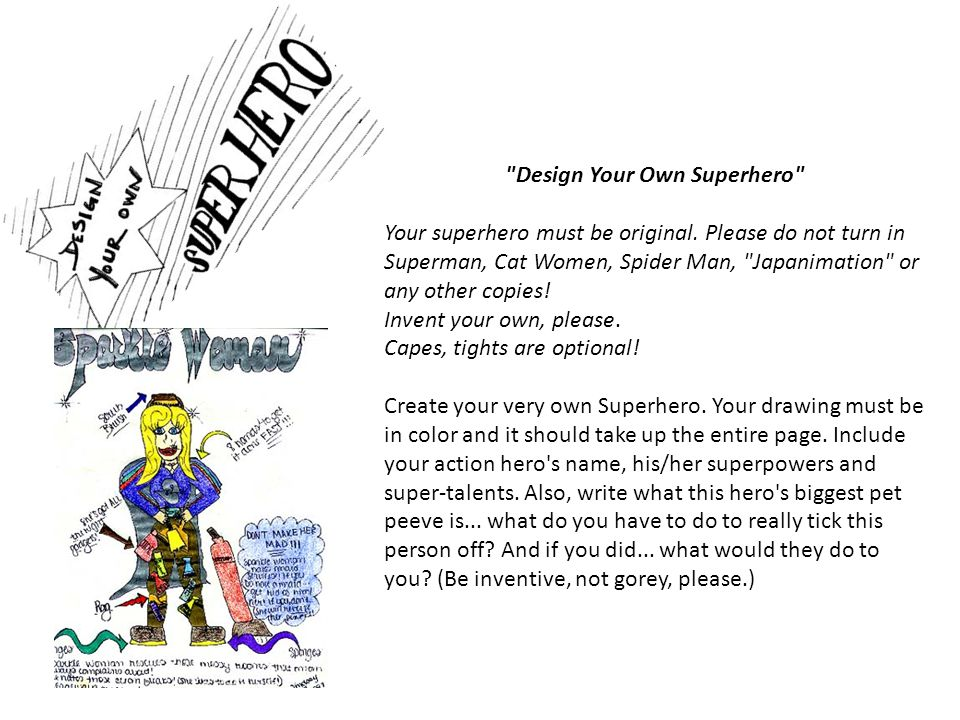 Design Your Own Superhero