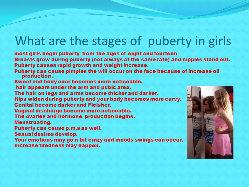 What are the stages of puberty in girls