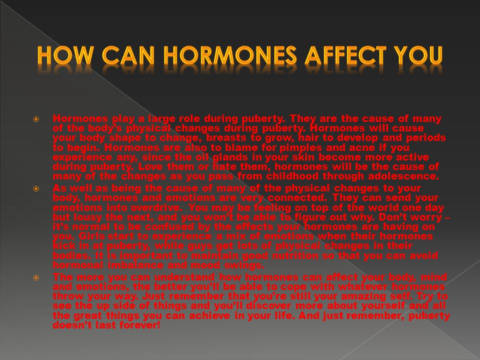 can you sense your hormones Because of the link between using hormone replacement therapy you and your doctor can decide if hrt or another treatment to ease menopausal side effects might be right for you talk to your doctor about a way to gradually stop that makes the most sense for you.