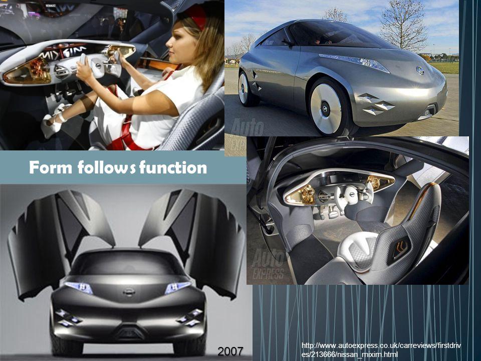 Form follows function http://www.autoexpress.co.uk/carreviews/firstdrives/213666/nissan_mixim.html.