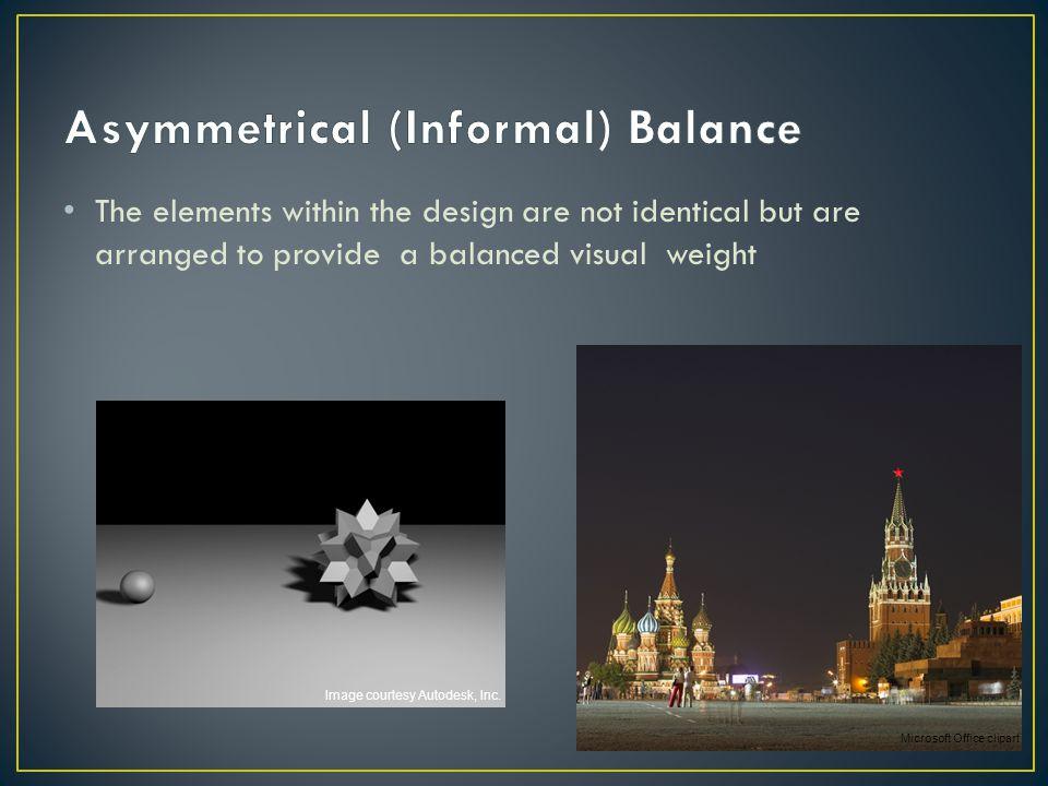Asymmetrical (Informal) Balance