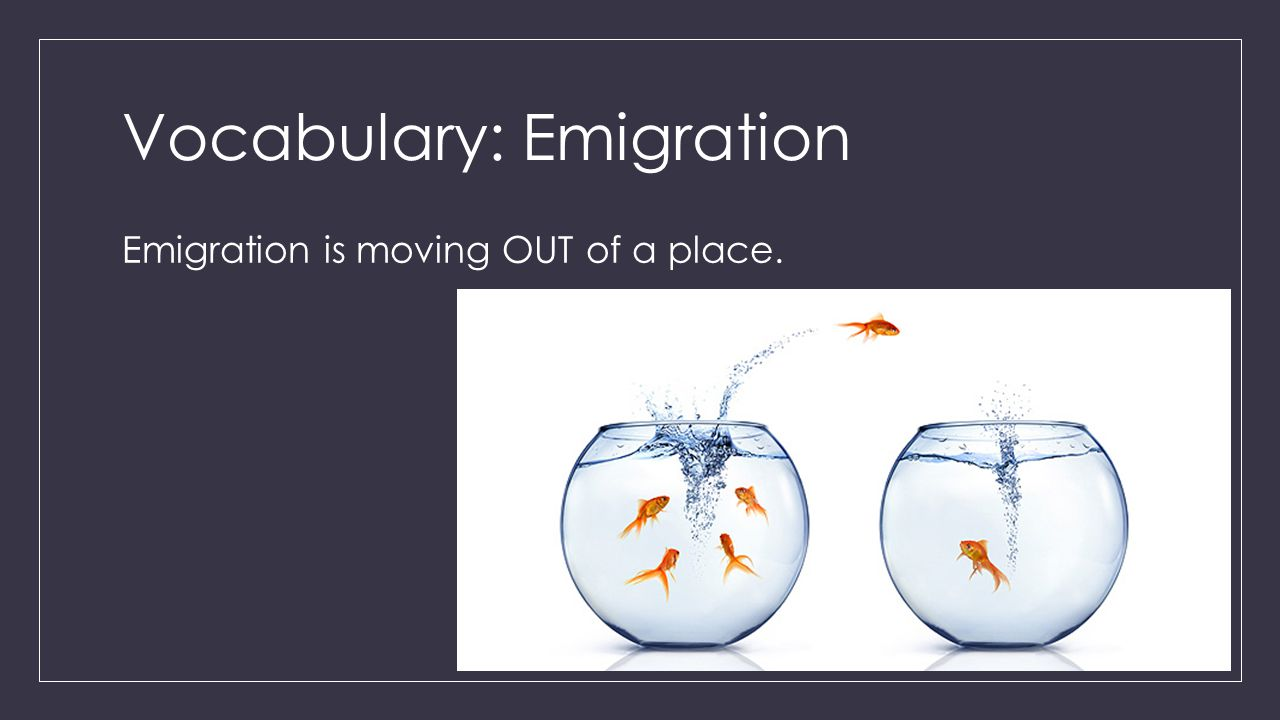 Vocabulary: Emigration