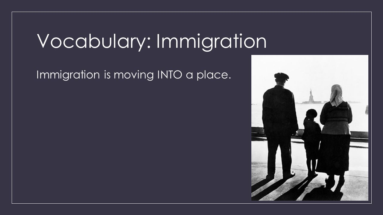 Vocabulary: Immigration
