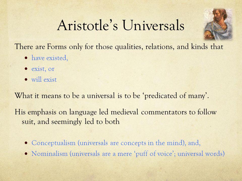 Aristotle's Universals