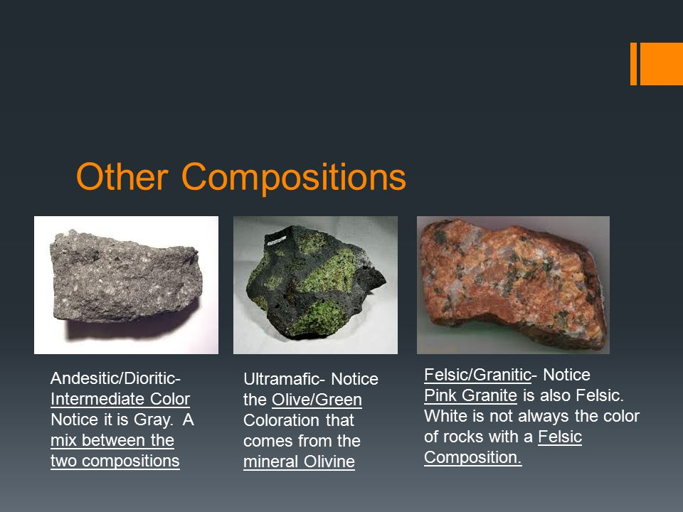 Other Compositions Felsic/Granitic- Notice
