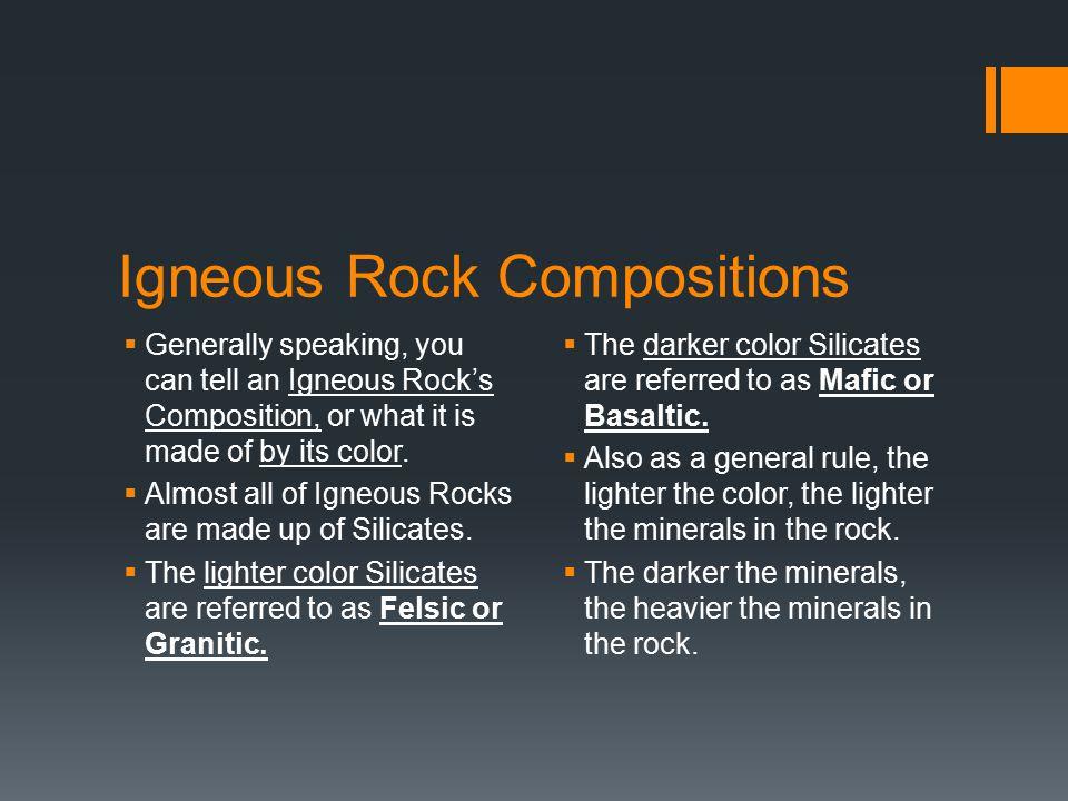 Igneous Rock Compositions