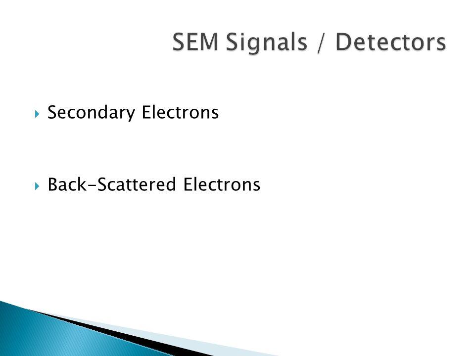 SEM Signals / Detectors