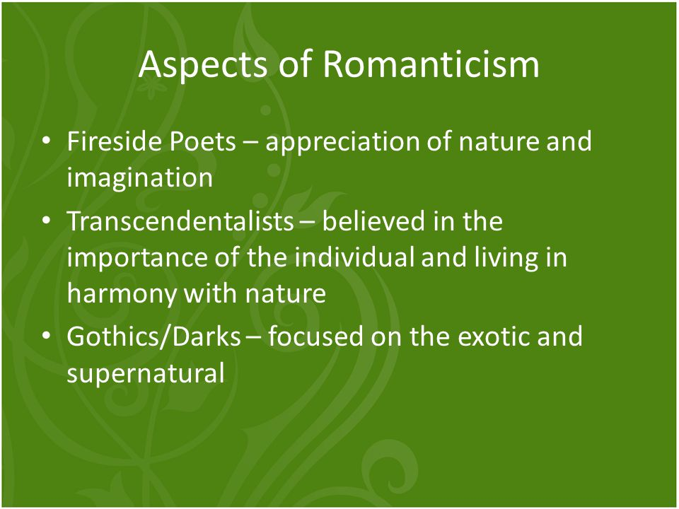 Aspects of Romanticism