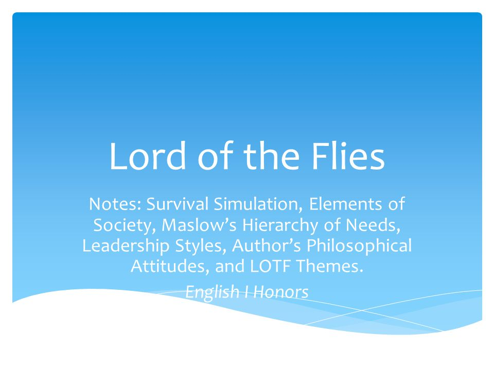 leadership in lord of the flies